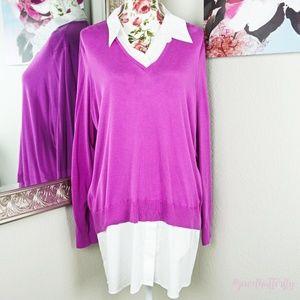 🦋 Lauren Ralph Lauren | Layered Knit Sweater